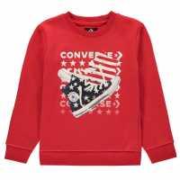 Converse Canna Crew Sweatshirt Junior Boys University Red Детски горнища и пуловери