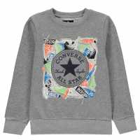 Converse Chuck Sweater Junior Boys Dark Grey Детски горнища и пуловери