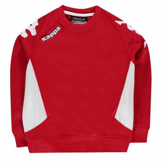 Kappa Cremone Sweater Junior Boys Red/White Детски суитчъри и блузи с качулки