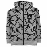 Adidas Sport Id Hoodie Junior Grey/Black Детски суитчъри и блузи с качулки
