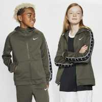 Nike Tape Hoodie Junior Boys Khaki Детски суитчъри и блузи с качулки