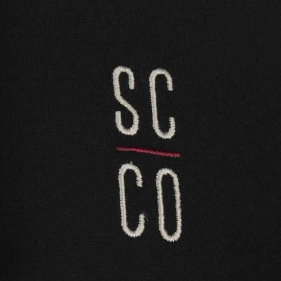 Soulcal Colour Block Oth Hoodie Mens Black/Charcoal Мъжки полар