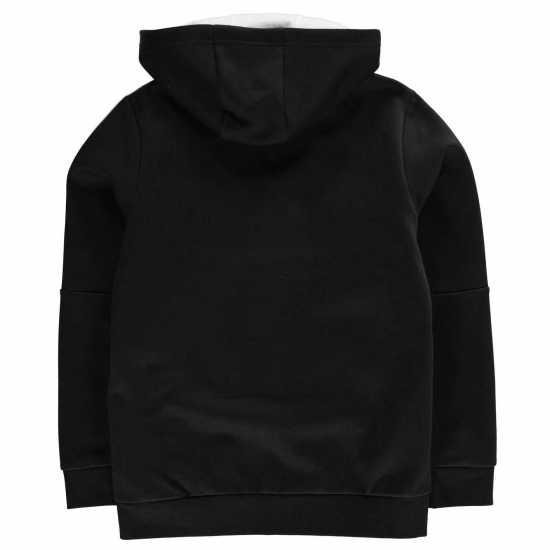 Adidas Детска Блуза С Качулка 3S Logo Full Zip Hoody Junior Boys Black/White Детски суитчъри и блузи с качулки