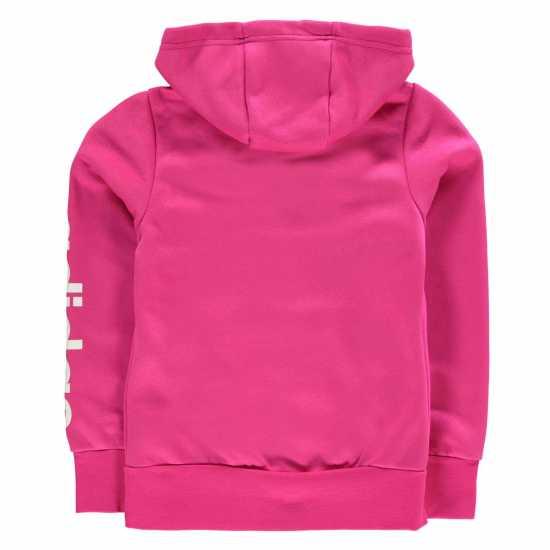 Adidas Linear Zip Hoodie Junior Girls Magenta Детски суитчъри и блузи с качулки
