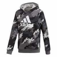 Adidas Boys Badge Pullover Sweatshirt Hoodie  Детски суитчъри и блузи с качулки