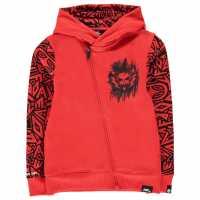No Fear Full Zip Hoodie Junior Boys Red/Black Детски суитчъри и блузи с качулки