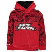 No Fear Zip Hoodie Junior Boys Red/Black Детски суитчъри и блузи с качулки