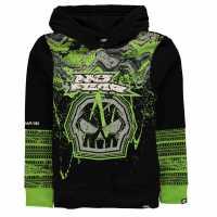 No Fear Motorcross Hoodie Junior Boys Black/Green Детски суитчъри и блузи с качулки