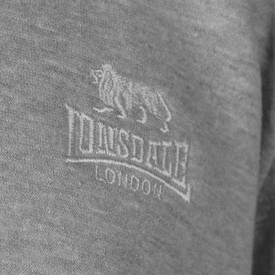 Lonsdale Full Zip Hoodie Mens Grey Marl Мъжки полар