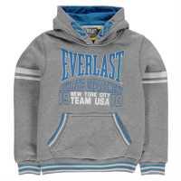 Everlast Детски Момчешки Суитшърт Large Logo Over The Head Hoody Junior Boys Grey Детски суитчъри и блузи с качулки