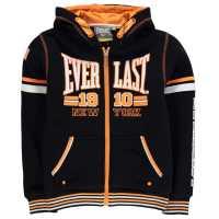Everlast Детски Момчешки Суитшърт Large Logo Zip Hoody Junior Boys Black Детски суитчъри и блузи с качулки