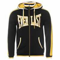 Everlast Мъжки Суитшърт С Цип Large Logo Zip Hoody Mens Black Мъжки полар