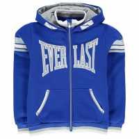 Everlast Детски Момчешки Суитшърт Large Logo Zip Hoody Junior Boys Royal Детски суитчъри и блузи с качулки