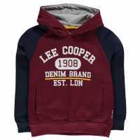 Lee Cooper Over The Head Hoodie Junior Boys Burg/Navy Детски суитчъри и блузи с качулки