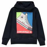 Converse Cbi Sneaker Hoodie Junior Boys Obsidian Детски суитчъри и блузи с качулки