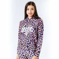 Sale Hype Pink Disco Leopard Kids Pullover Hoodie  Детски суитчъри и блузи с качулки