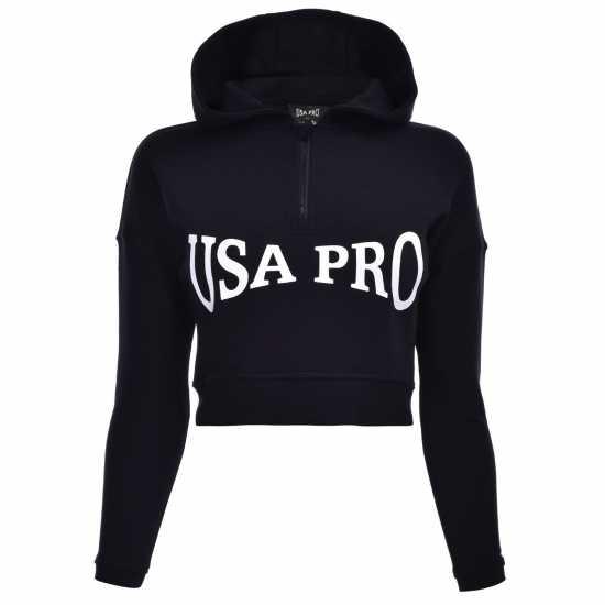 Usa Pro Детски Момичешки Суитшърт Over The Head Hoody Junior Girls Black (J) Детски суитчъри и блузи с качулки