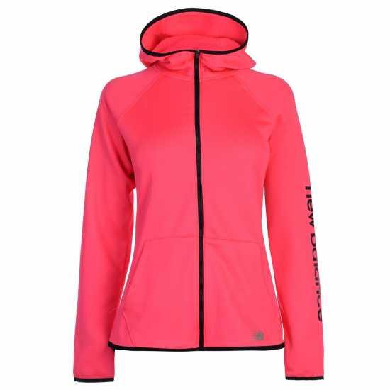 New Balance Core Flc Fz Hood Ldc99 Alpha Pink Дамски суичъри и блузи с качулки