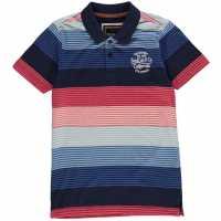 Soulcal Детска Блуза С Яка Multi Polo Shirt Junior Boys Orange/Navy Детски тениски тип поло