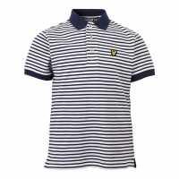 Lyle And Scott Блуза С Яка Stripe Polo Shirt Navy Детски тениски тип поло