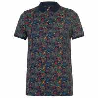 Soviet Блуза С Яка Paisley Print Polo Shirt Mens Multi Мъжки тениски с яка