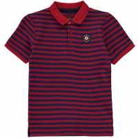 Ben Sherman Stripe Target Polo Chilli Red Детски тениски тип поло