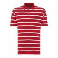 Raging Bull Breton Stripe Polo Red72 Мъжко облекло за едри хора