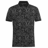 Pierre Cardin Мъжка Блуза С Яка Paisley Polo Shirt Mens Black Мъжки тениски с яка