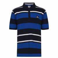 Lonsdale Мъжко Поло Райе Yarn Dye Stripe Polo Shirt Mens Navy/Blue/White Мъжки тениски с яка