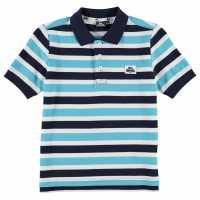 Lonsdale Детска Блуза С Яка Yard Stripe Polo Shirt Junior Boys Navy/Blue/White Мъжки тениски с яка