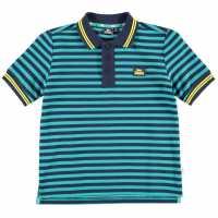 Lonsdale Детска Блуза С Яка Yard Stripe Polo Shirt Junior Boys Navy/Teal/Yell Мъжки тениски с яка