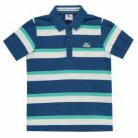 Lonsdale Детска Блуза С Яка Stripe Polo Junior Boys Blue/Teal Детски тениски тип поло