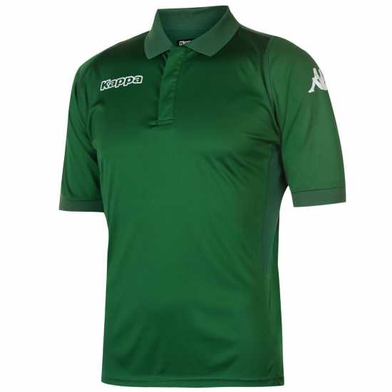 Kappa Football Polo Mens Green/White Мъжки тениски с яка