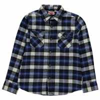 Lee Cooper Фланелена Риза Flannel Shirt Junior Black/Blue/Wht Детски ризи