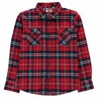 Lee Cooper Фланелена Риза Flannel Shirt Junior Red/Navy/White Детски ризи