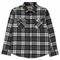 Lee Cooper Фланелена Риза Flannel Shirt Junior Black/White/Gry Детски ризи