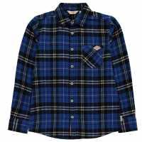 Lee Cooper Фланелена Риза Flannel Shirt Junior Boys Blue/Black Chk Детски ризи