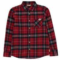 Lee Cooper Фланелена Риза Flannel Shirt Junior Boys Burgundy Check Детски ризи