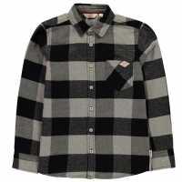 Lee Cooper Риза С Дълъг Ръкав Check Long Sleeve Shirt Junior Boys Black Check Детски ризи
