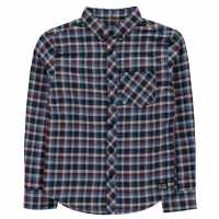 Ben Sherman Мъжка Риза Gingham Shirt Blue Мъжки полар