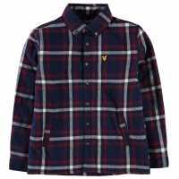 Lyle And Scott Padded Shirt Deep Indigo Детски ризи