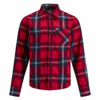 Jack And Jones Карирана Дамска Риза Junior Colby Check Shirt Fiery Red Детски ризи