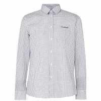 Pierre Cardin Риза С Дълъг Ръкав Long Sleeve Shirt Black/White Мъжко облекло за едри хора