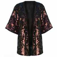 Golddigga Sequin Kaftan Ladies Multi Дамски якета и палта
