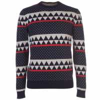 Scotch And Soda Patterned Knitted Jumper  Коледни пуловери
