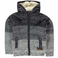 Soulcal Deluxe Gradient Knit Jacket Navy/Blue Детски плетени пуловери и жилетки