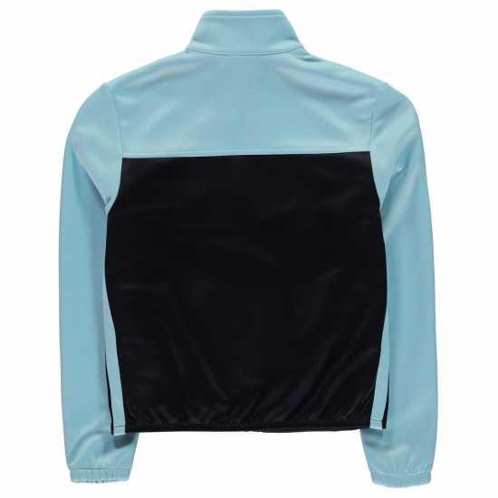 Lonsdale Яке Момичета 2 Stripe Track Jacket Junior Girls Navy/Cool Blue