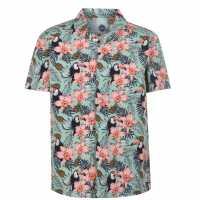 Hot Tuna Мъжка Риза Short Sleeves All Over Printed Shirt Mens Floral Мъжко облекло за едри хора