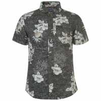 Soulcal Щампована Риза All Over Print Shirt Charcoal AOP Мъжки ризи