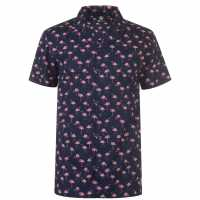 Hot Tuna Щампована Риза Short Sleeve All Over Print Shirt Flamingo Мъжки ризи